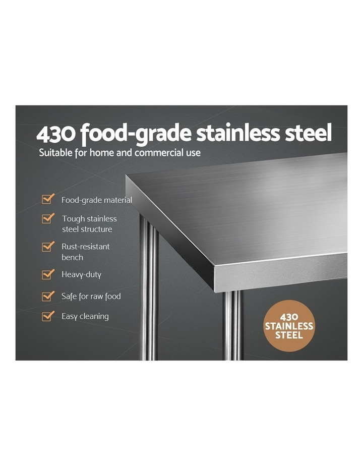 760x760mm Commercial Stainless Steel Kitchen Bench 430 Food Prep Table image 3