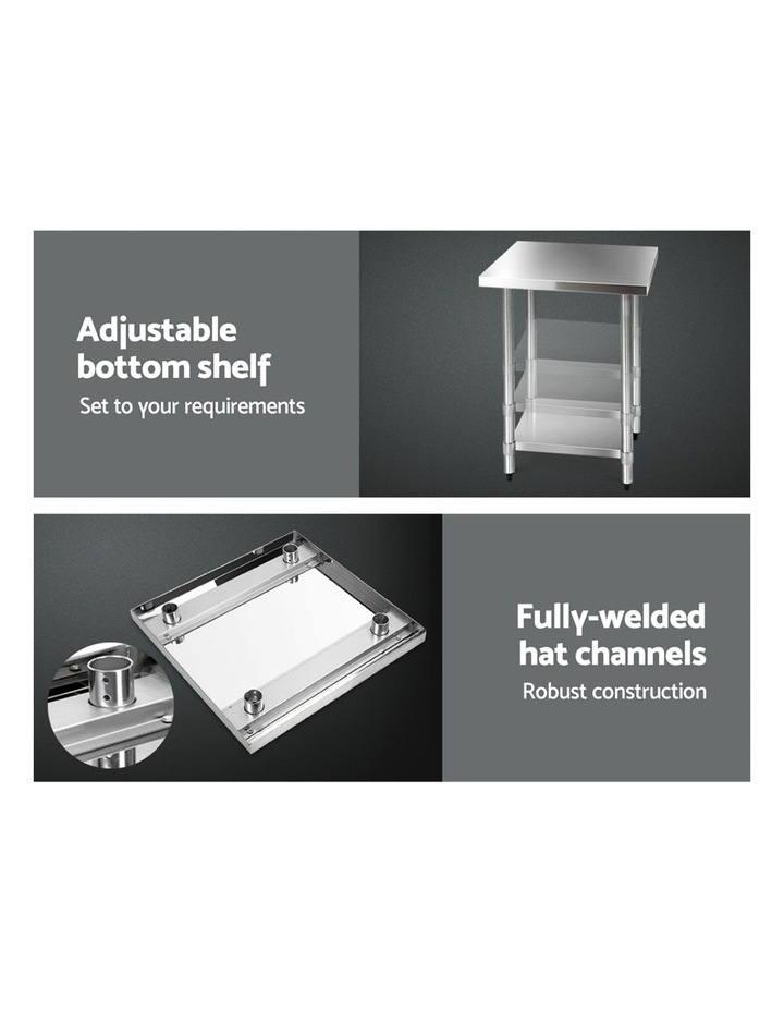 610x610mm Commercial 430 Stainless Steel Bench image 6