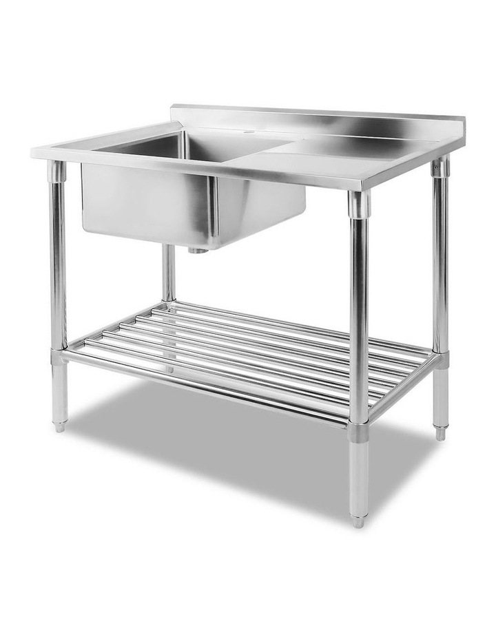 Commercial Stainless Steel Kitchen Sink Bench 100x60cm image 1