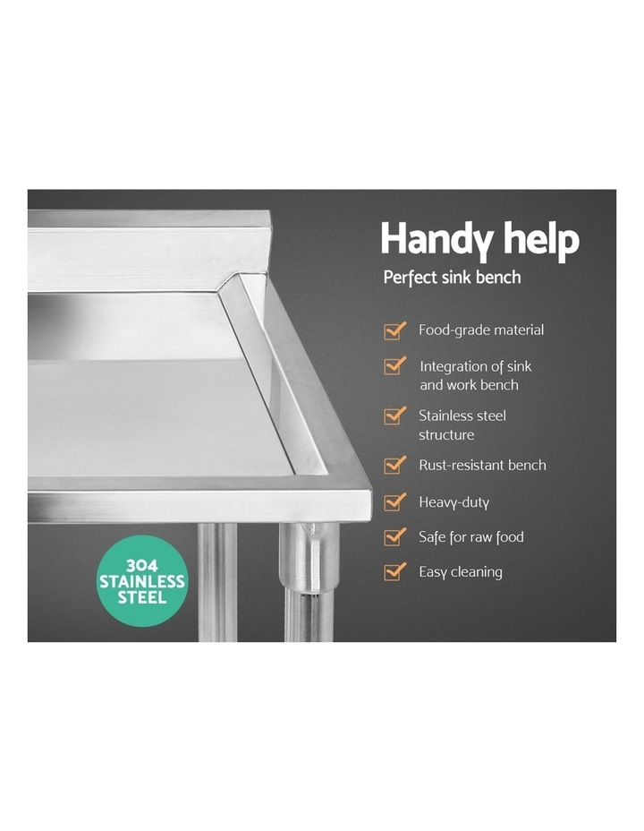 Commercial Stainless Steel Kitchen Sink Bench 100x60cm image 3