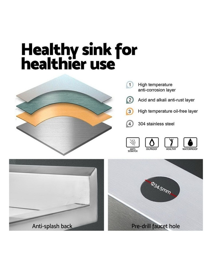 Commercial Stainless Steel Kitchen Sink Bench 100x60cm image 4