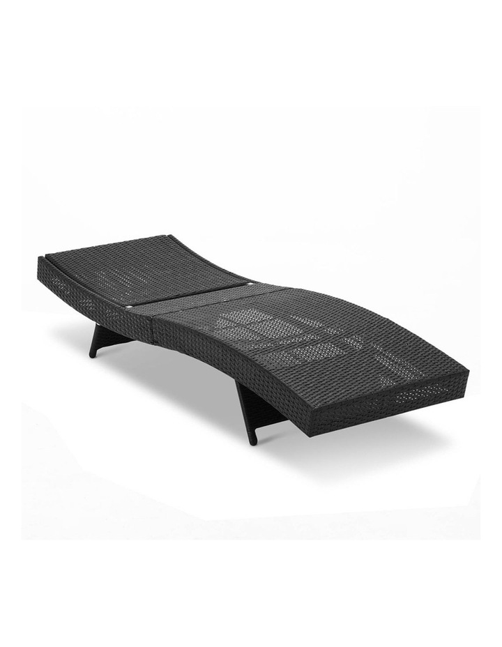 Sun Lounge Setting Outdoor Furniture Wicker Day Bed Rattan Garden Patio image 4