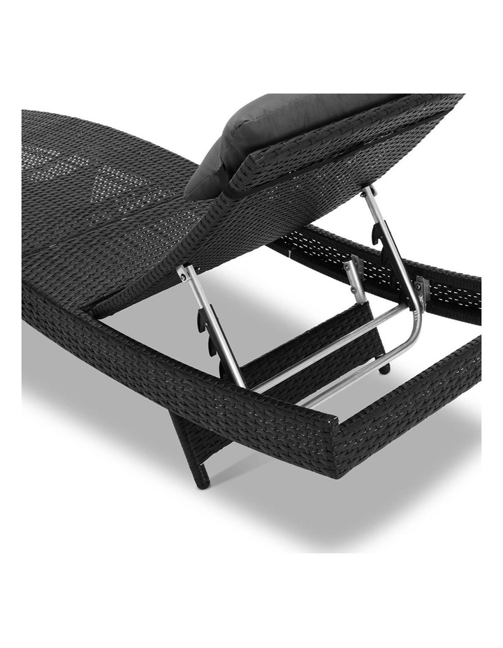 Sun Lounge Setting Outdoor Furniture Wicker Day Bed Rattan Garden Patio image 6