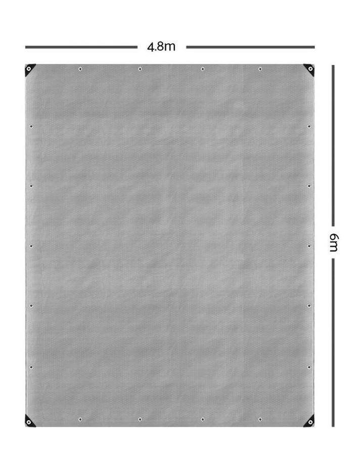 4.8 x 6m Heavy Duty Poly Tarp image 2