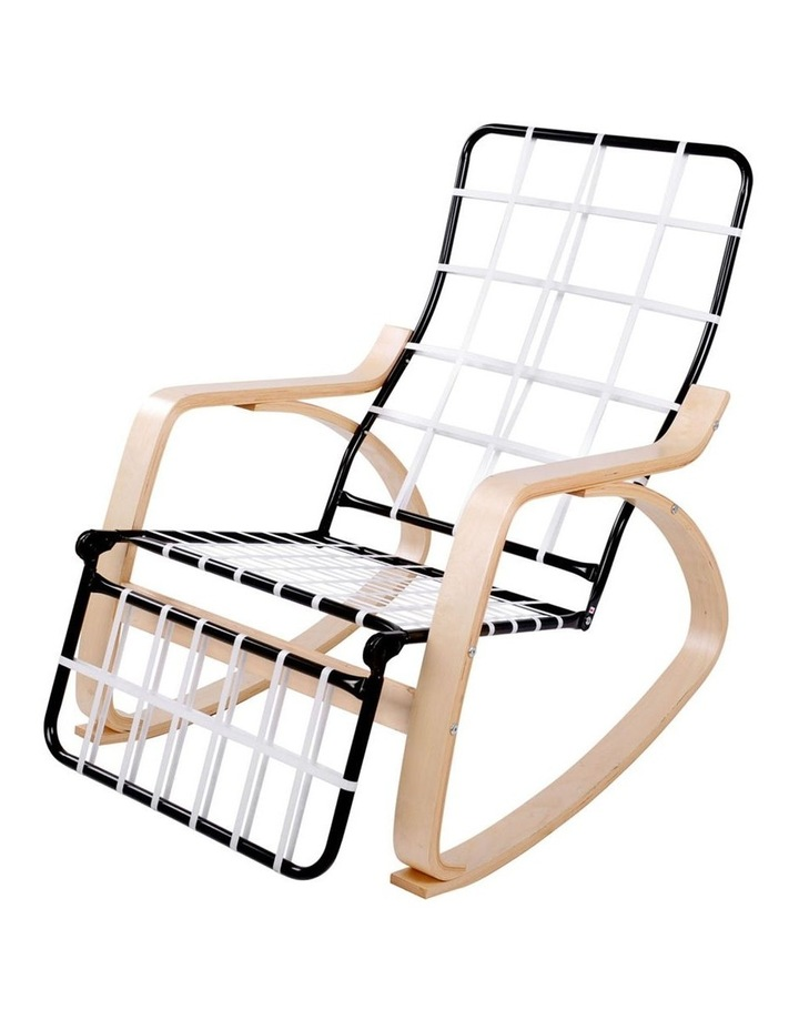 Fabric Rocking Armchair with Adjustable Footrest - Beige image 4