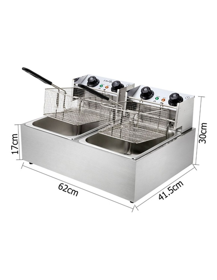 Commercial Electric Twin Deep Fryer - Silver image 2