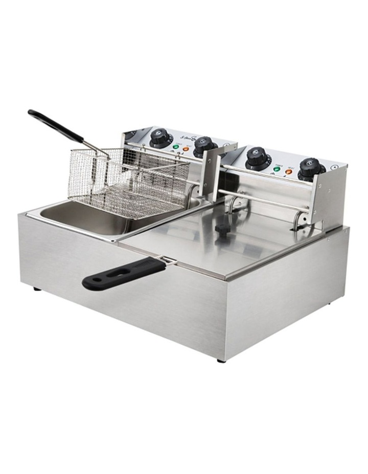 Commercial Electric Twin Deep Fryer - Silver image 5