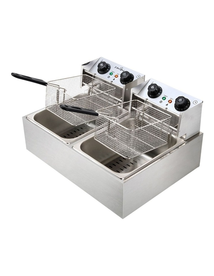 Commercial Electric Twin Deep Fryer - Silver image 6