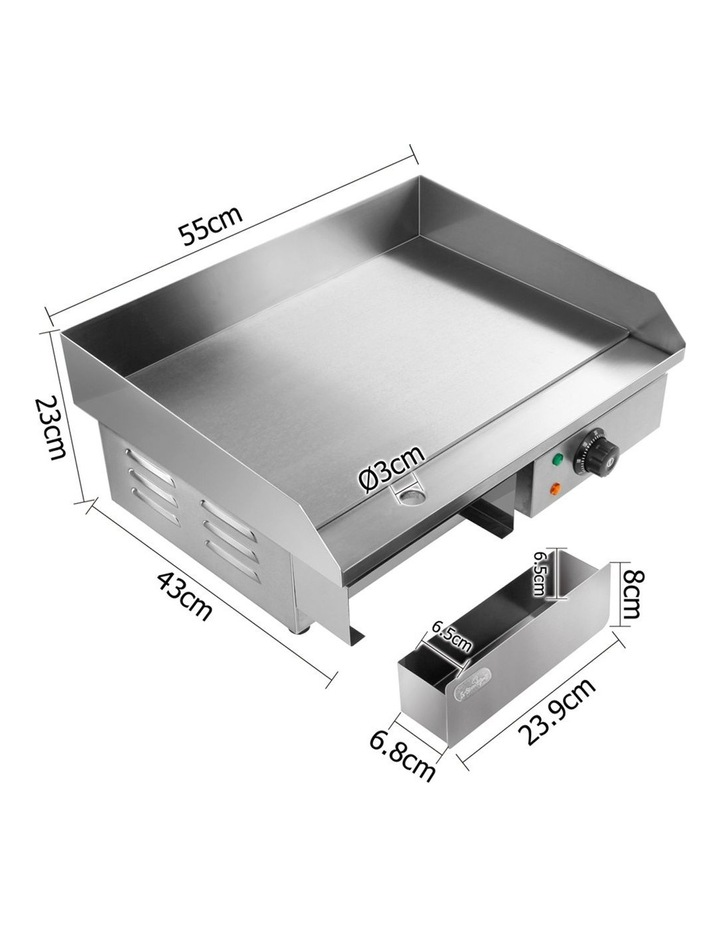 3000W Electric Griddle Hot Plate - Stainless Steel image 2