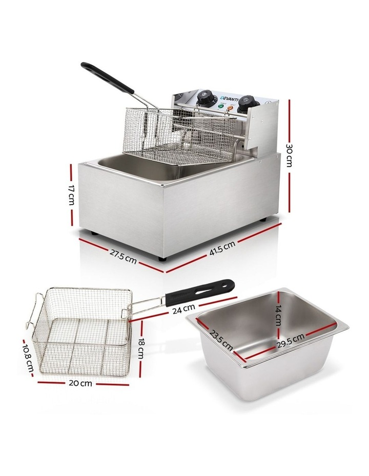 Commercial Electric Single Deep Fryer - Silver image 2