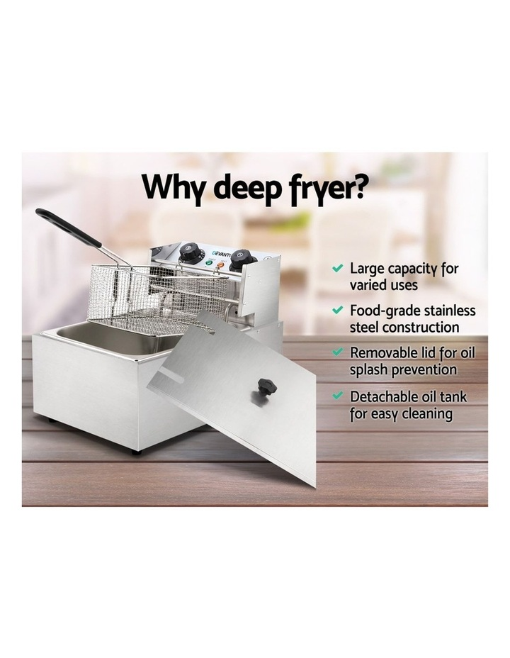 Commercial Electric Single Deep Fryer - Silver image 4