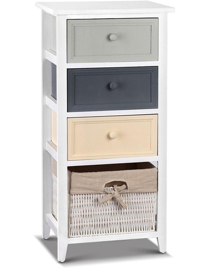 4 Drawers Storage Dresser - White image 1