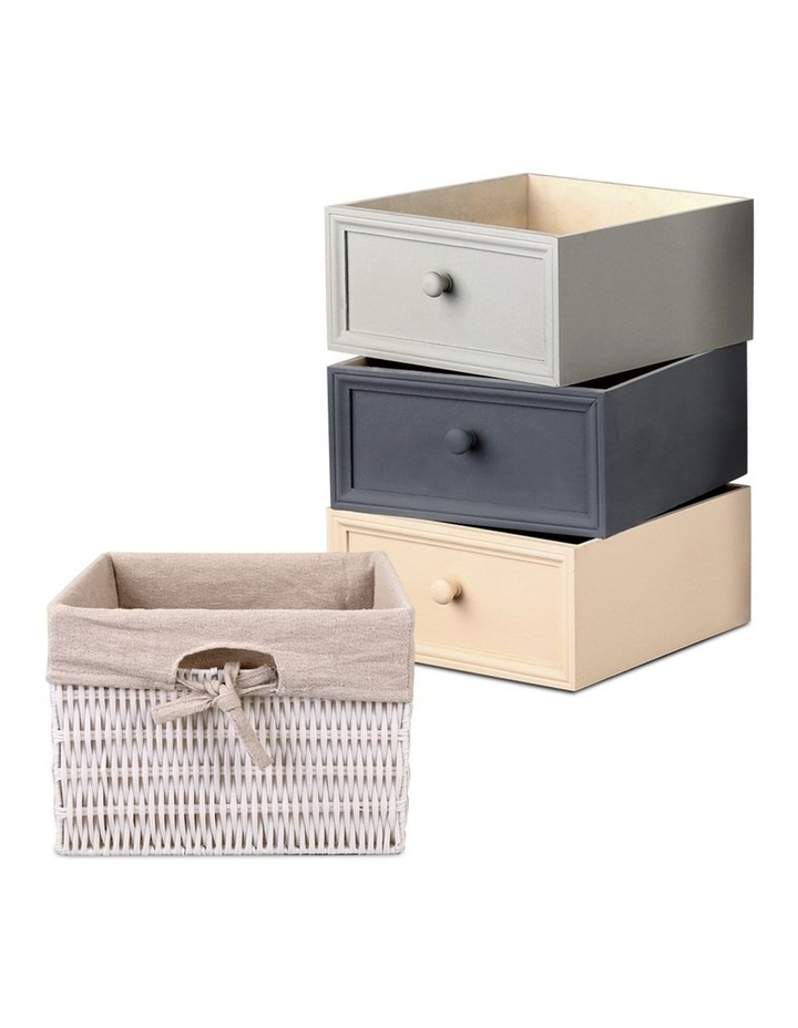 4 Drawers Storage Dresser - White image 3