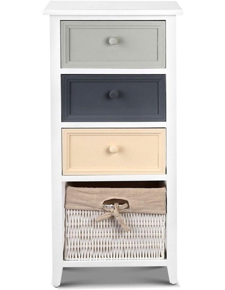 4 Drawers Storage Dresser - White image 4