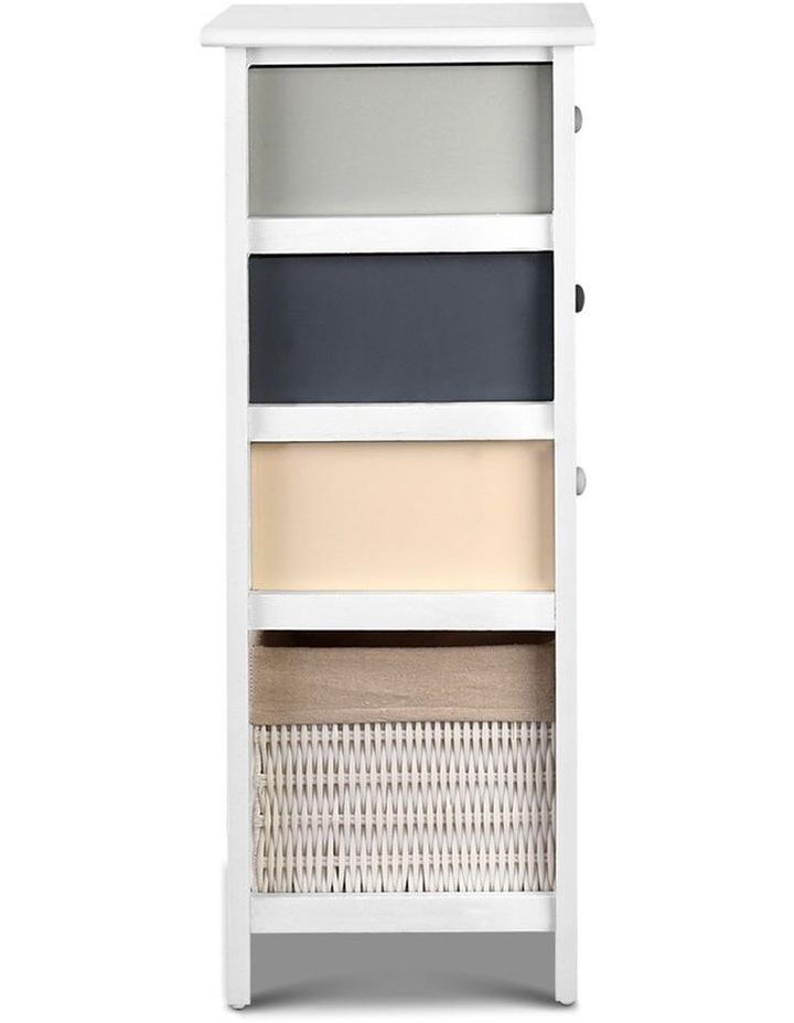 4 Drawers Storage Dresser - White image 5