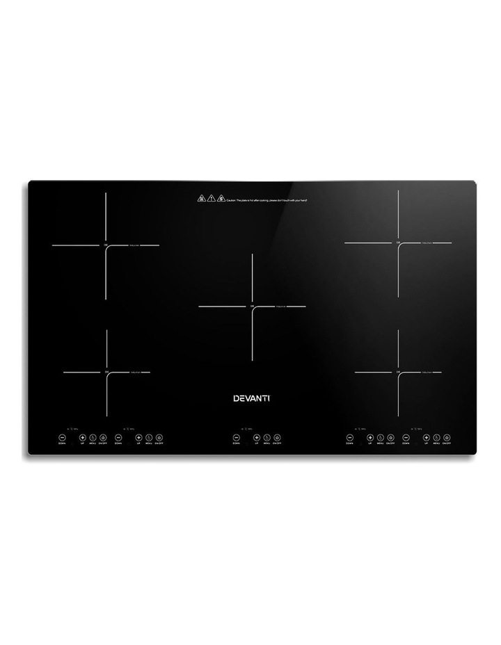 Induction Cooktop 90cm Electric Hob Stove Cooker Ceramic Black Glass image 1