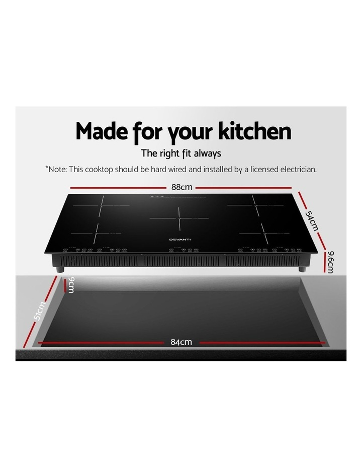 Induction Cooktop 90cm Electric Hob Stove Cooker Ceramic Black Glass image 2