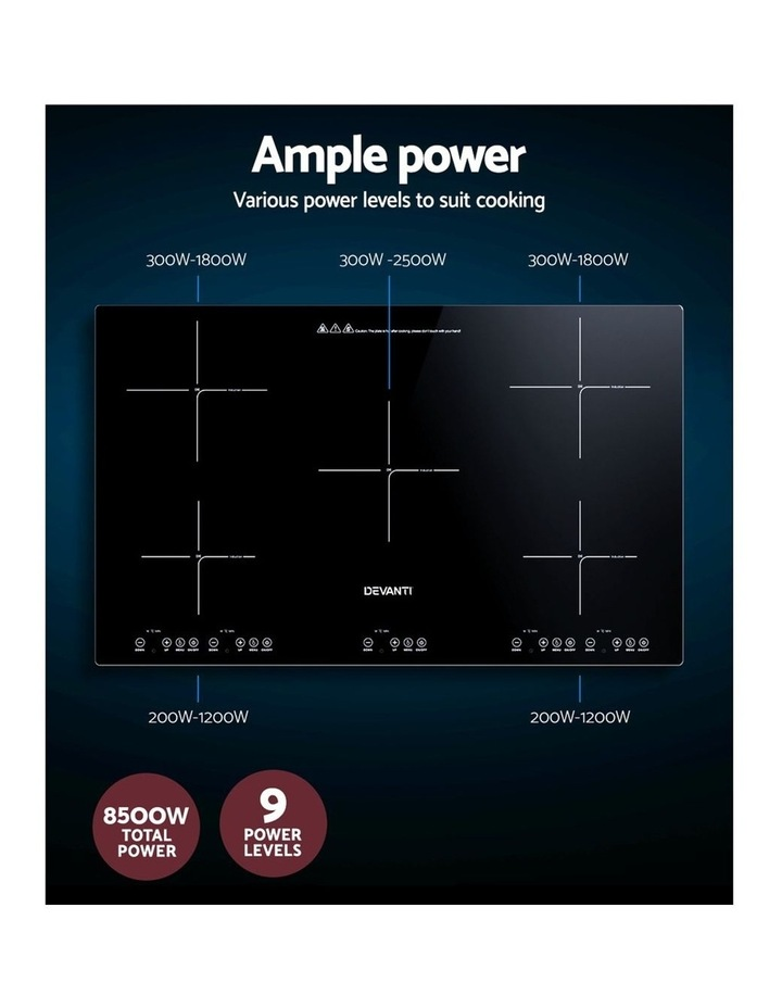 Induction Cooktop 90cm Electric Hob Stove Cooker Ceramic Black Glass image 5