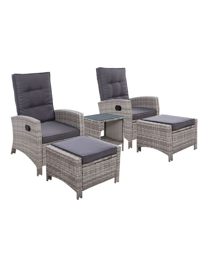 Outdoor Patio Furniture Recliner Chairs Table Set Wicker Sofa Lounge 5pc image 1