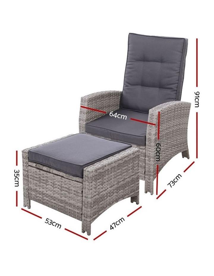 2PC Sun lounge Recliner Chair Wicker Outdoor Furniture Patio Garden image 2