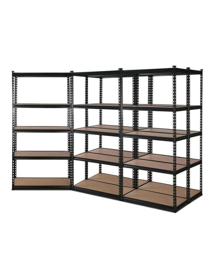 5x0.9M 5-Shelves Steel Warehouse Shelving Racking Garage Storage Rack Black image 1