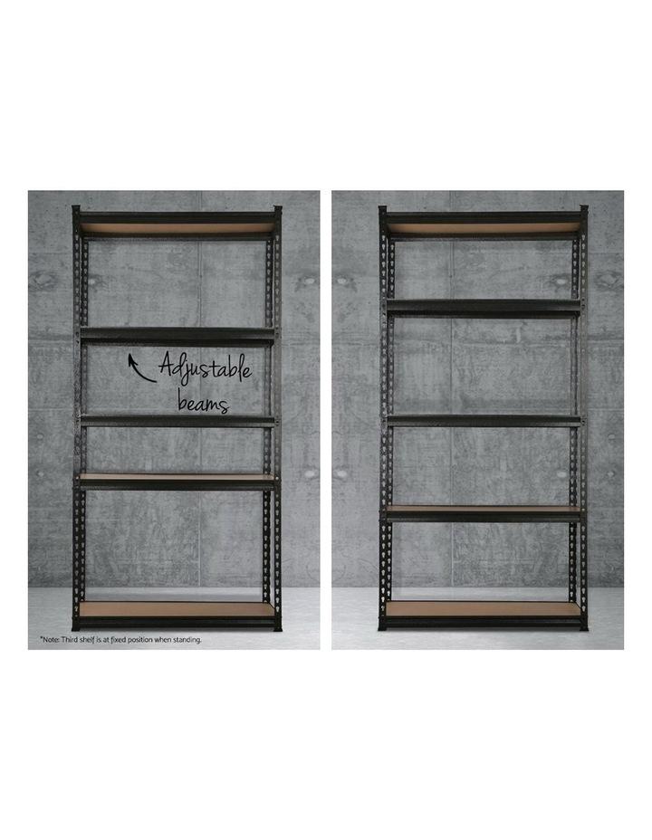 5x0.9M 5-Shelves Steel Warehouse Shelving Racking Garage Storage Rack Black image 5