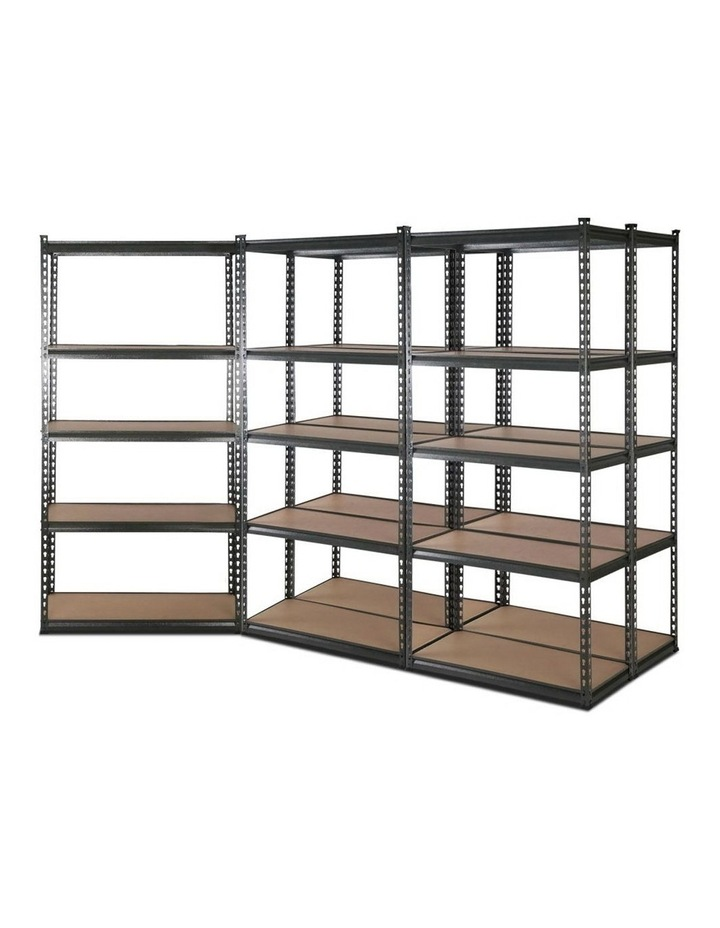5x0.9M 5-Shelves Steel Warehouse Shelving Racking Garage Storage Rack Grey image 1