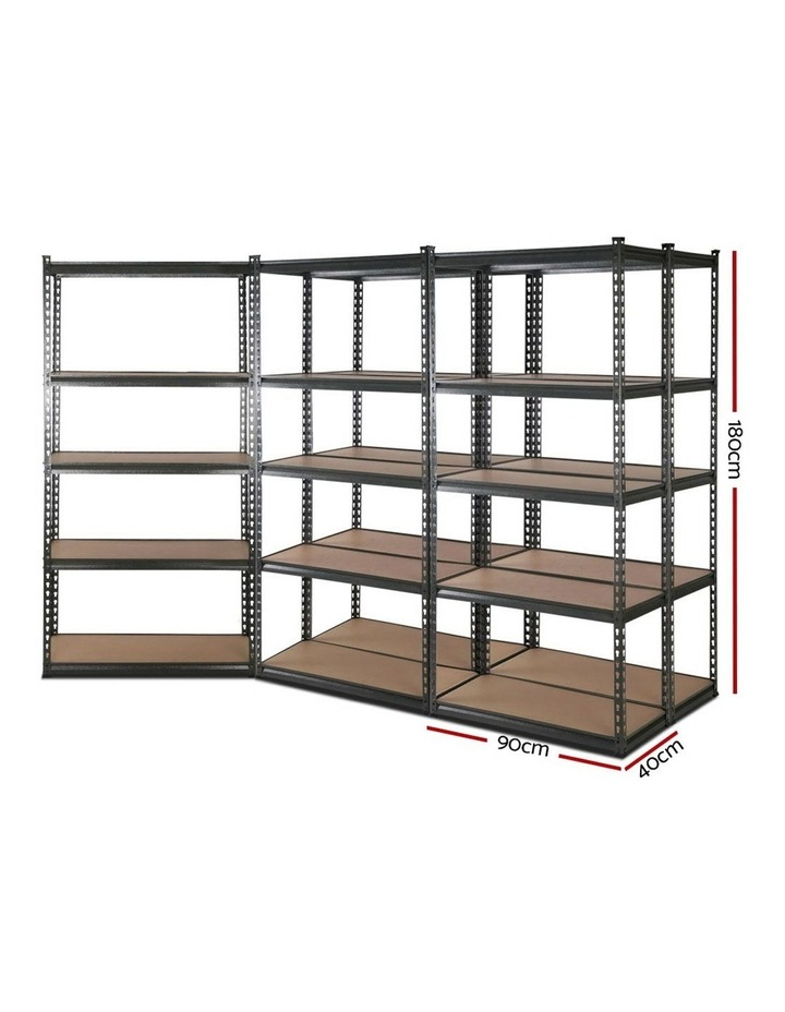 5x0.9M 5-Shelves Steel Warehouse Shelving Racking Garage Storage Rack Grey image 2