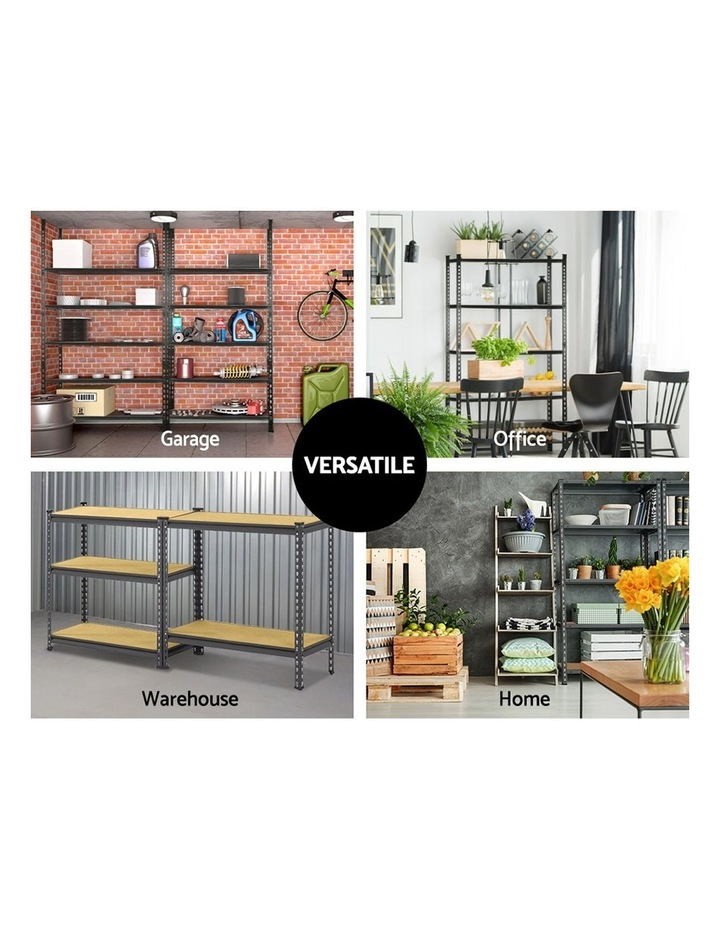 5x0.9M 5-Shelves Steel Warehouse Shelving Racking Garage Storage Rack Grey image 6