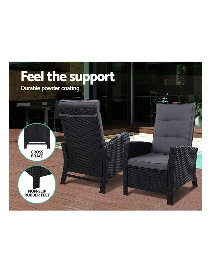Outdoor Setting Recliner Chair Table Set Wicker Lounge Patio Furniture image 5