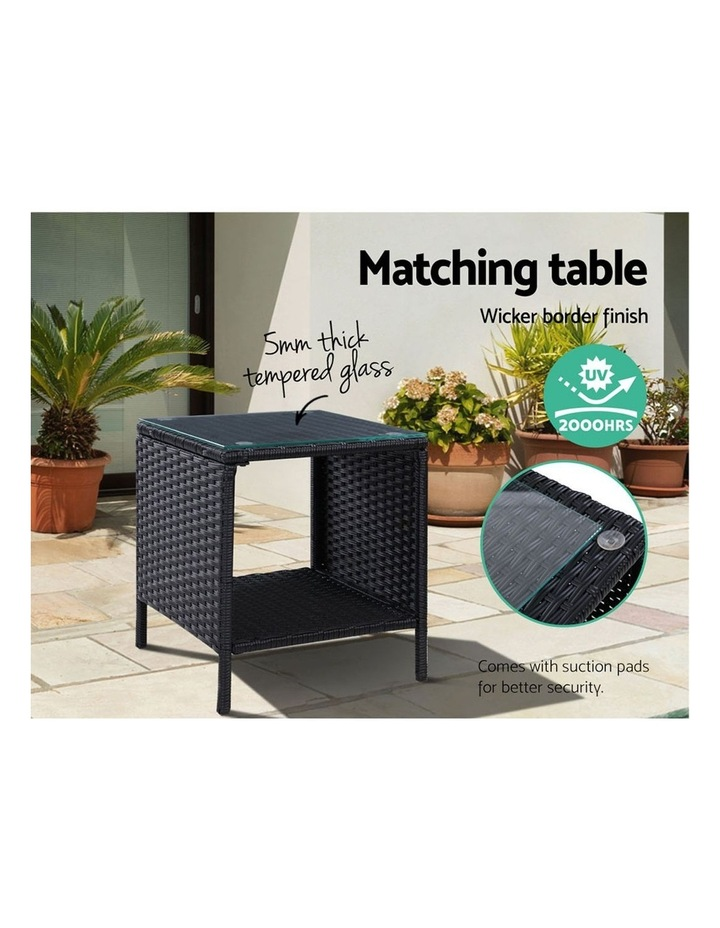 Outdoor Setting Recliner Chair Table Set Wicker Lounge Patio Furniture image 6
