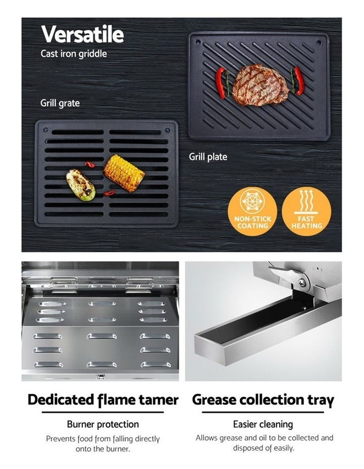 Portable Gas BBQ LPG Oven Camping Cooker Grill 2 Burners Outdoor image 6