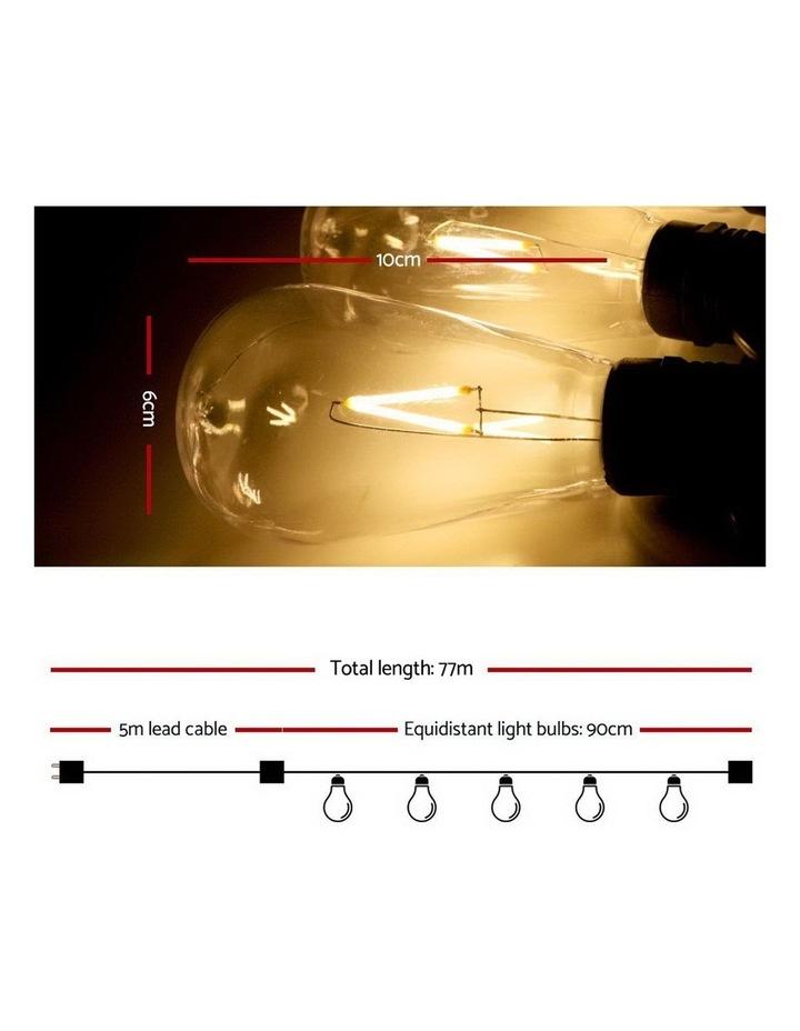 My Plaza 80PCS LED Festoon String Lights Wedding Christmas Outdoor image 2