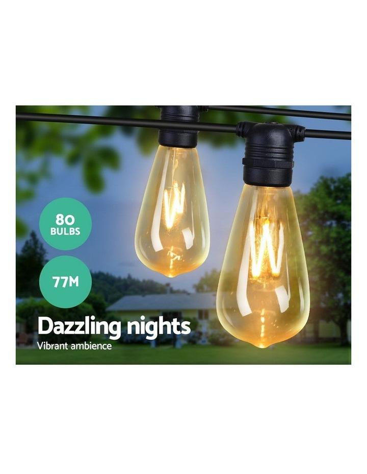 My Plaza 80PCS LED Festoon String Lights Wedding Christmas Outdoor image 3