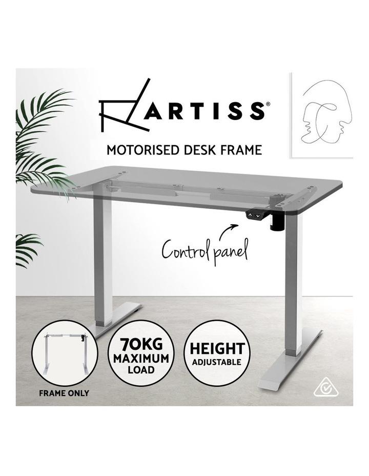 Standing Desk Sit Stand Riser Height Adjustable Motorised Frame Only Grey image 3