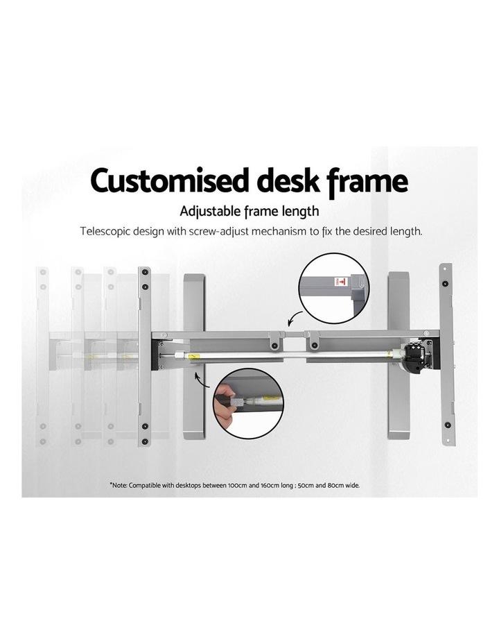 Standing Desk Sit Stand Riser Height Adjustable Motorised Frame Only Grey image 5