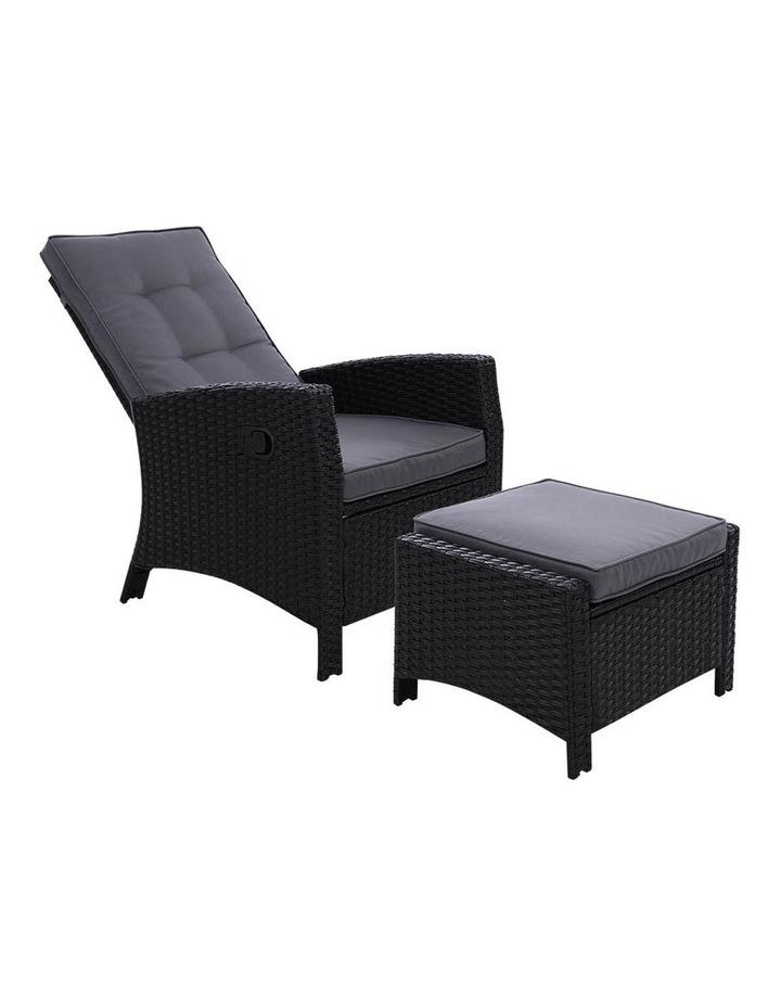 Patio Furniture Sofa Recliner Chair Sun lounge Wicker Outdoor Ottoman image 1