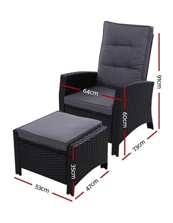 Patio Furniture Sofa Recliner Chair Sun lounge Wicker Outdoor Ottoman image 2