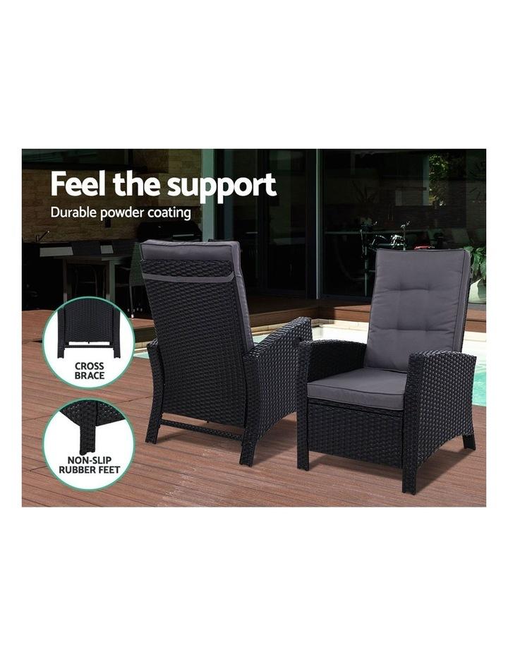 Patio Furniture Sofa Recliner Chair Sun lounge Wicker Outdoor Ottoman image 4