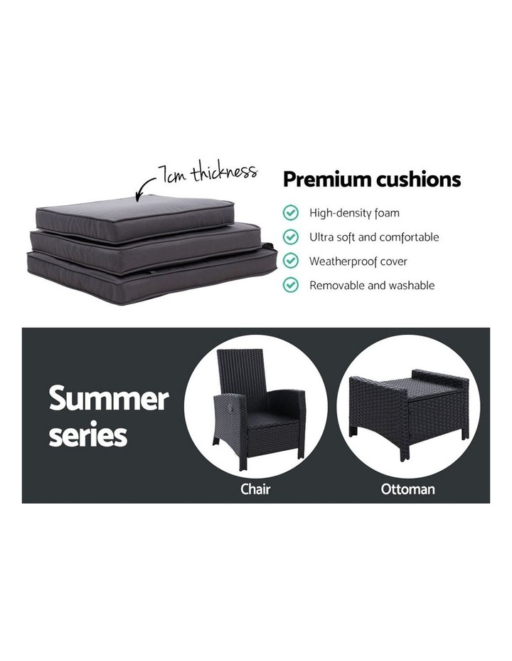 Patio Furniture Sofa Recliner Chair Sun lounge Wicker Outdoor Ottoman image 6