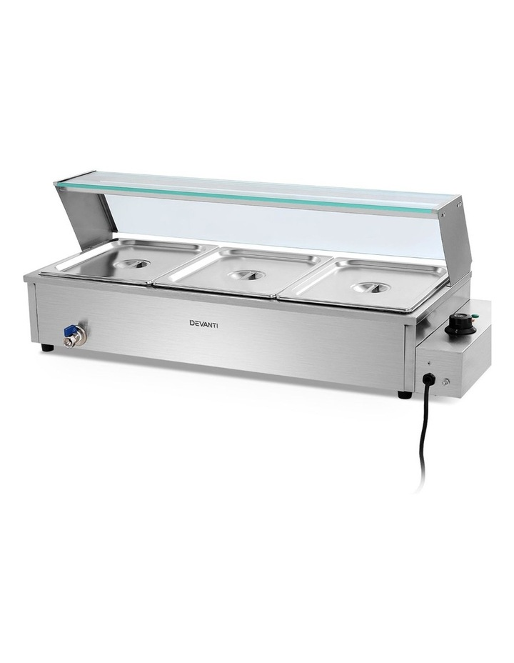 Commercial Food Warmer Bain Marie Electric Buffet Pan Stainless Steel image 1