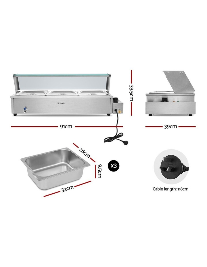 Commercial Food Warmer Bain Marie Electric Buffet Pan Stainless Steel image 2