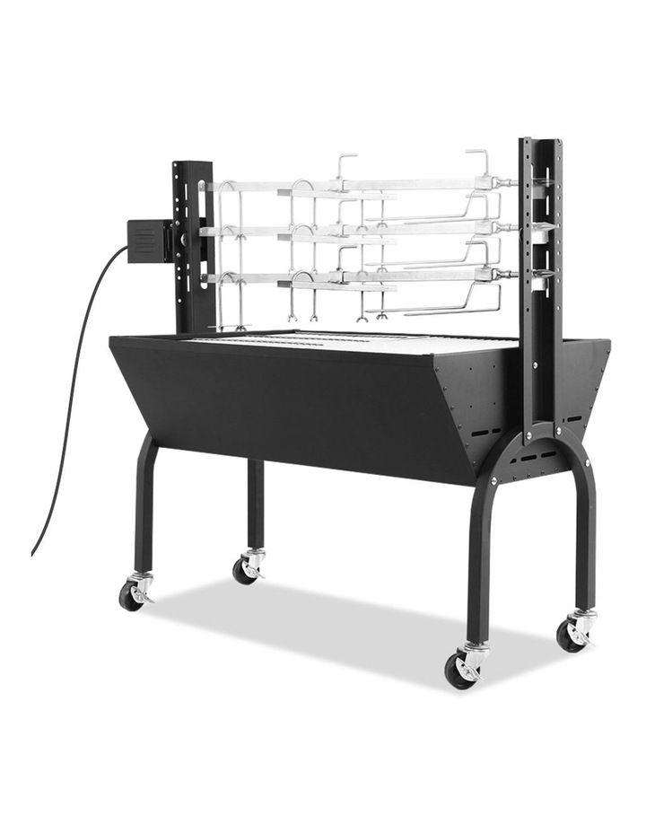 Electric Rotisserie BBQ Charcoal Smoker Grill Spit Roaster Outdoor image 3