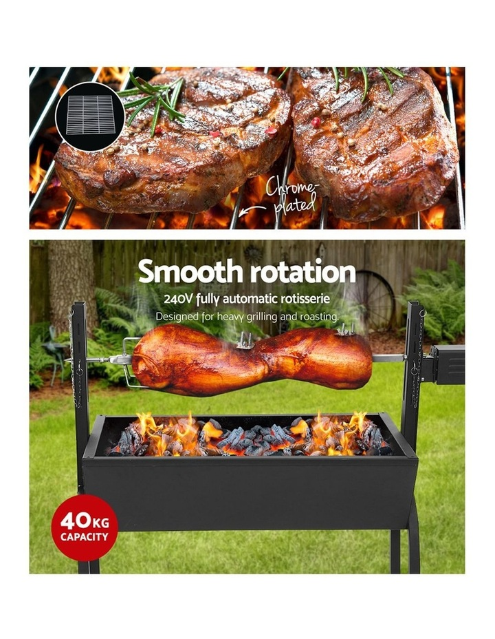 Electric Rotisserie BBQ Charcoal Smoker Grill Spit Roaster Outdoor image 4