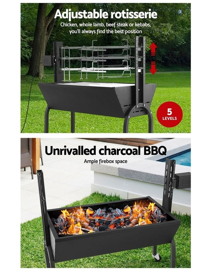 Electric Rotisserie BBQ Charcoal Smoker Grill Spit Roaster Outdoor image 5