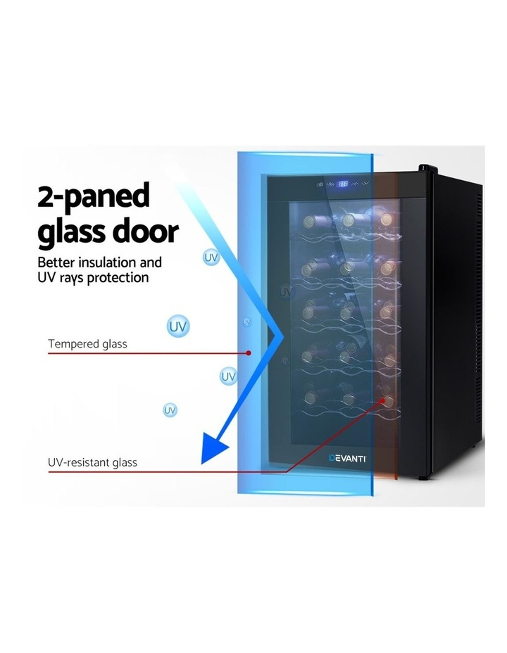 Devanti Wine Cooler 18 Bottle Thermoelectric Chiller Storage Fridge Cellar Black image 3