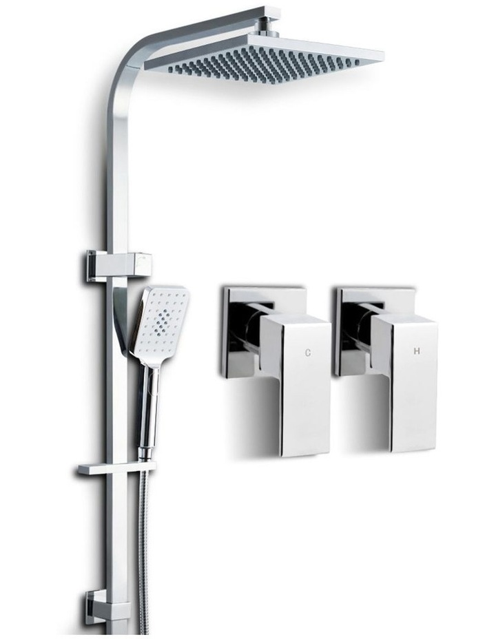 "WELS 8"" Rain Shower Head Set Square Mixer Hand Held High Pressure image 1"