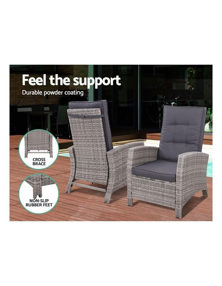 Recliner Chair Sun lounge Wicker Outdoor Furniture Patio Garden Ottoman image 4