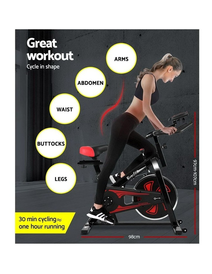 Spin Exercise Bike Cycling Fitness Commercial Home Workout Gym Equipment image 4