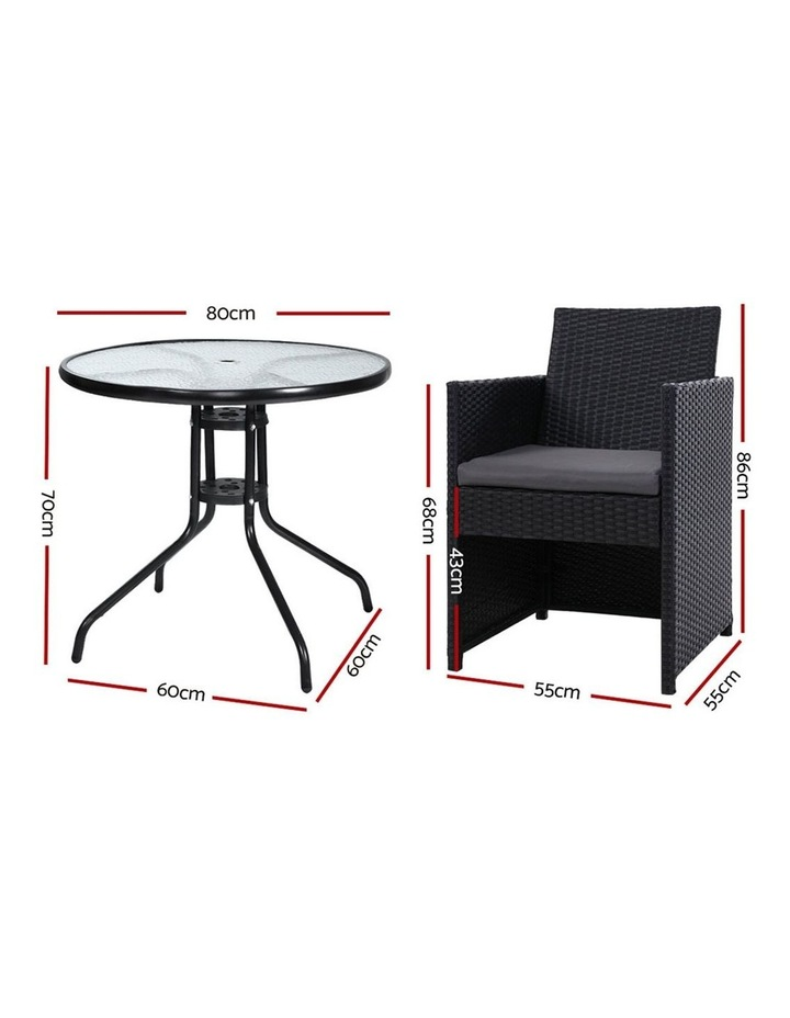 Patio Furniture Dining Chairs Table Patio Setting Bistro Set Wicker Tea Coffee Cafe Bar Set image 2